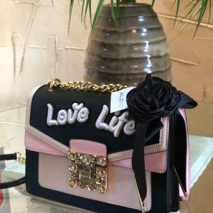 f5a7e89960a Aldo Bags - Aldo sonara love life crossbody black  pink bag